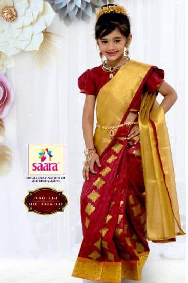 red half saree