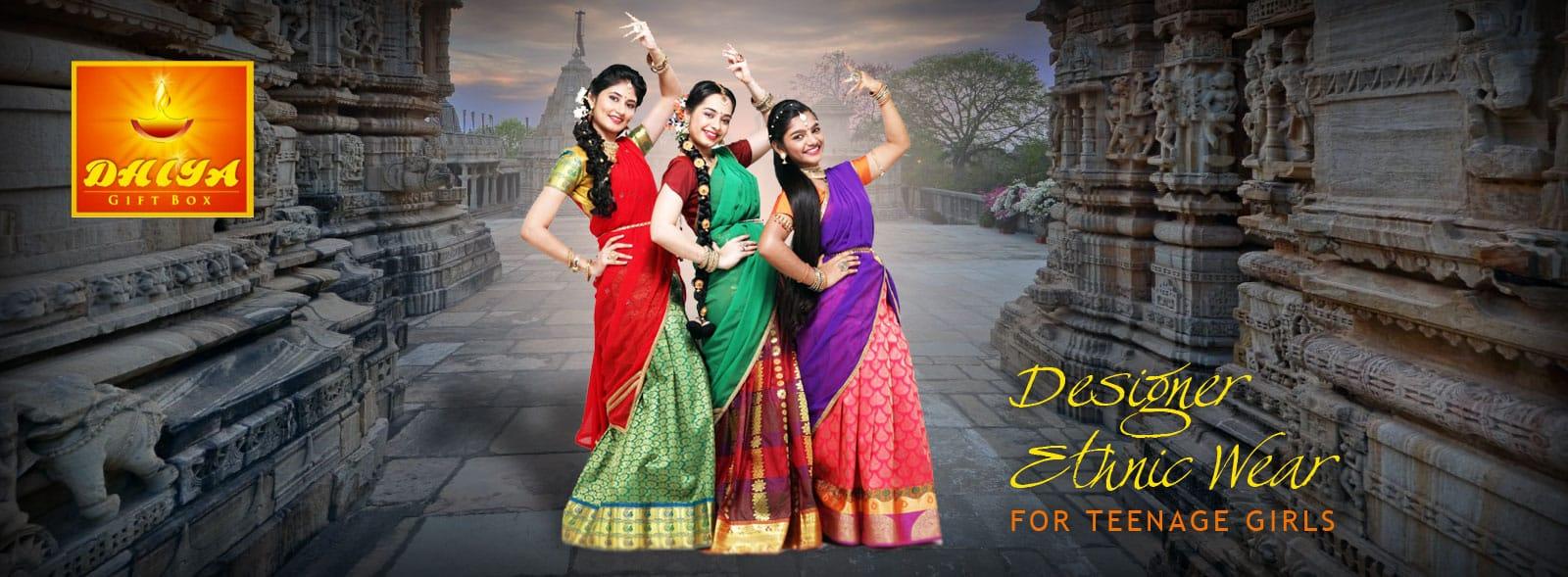 half saree model